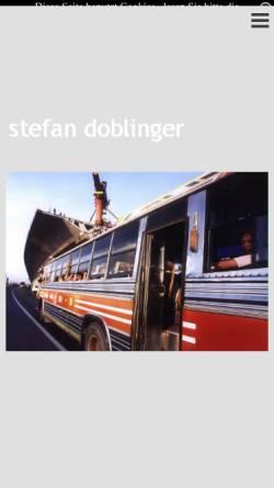 Vorschau der mobilen Webseite www.doblinger-reportage.de, Doblinger, Stefan