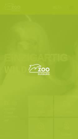 Vorschau der mobilen Webseite www.zoo-duisburg.de, Zoo Duisburg