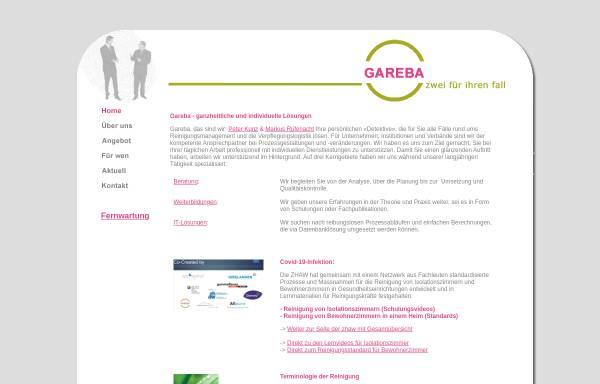Vorschau von www.gareba.ch, Gareba GmbH