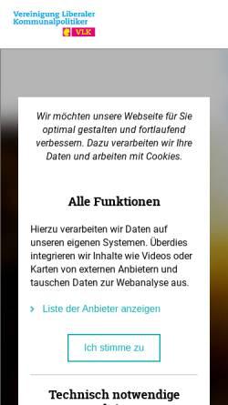 Vorschau der mobilen Webseite www.vlkrlp.de, Vereinigung Liberaler Kommunalpolitiker Rheinland-Pfalz