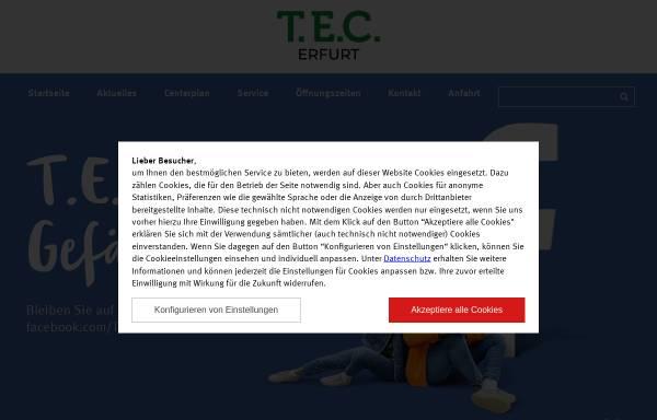 Vorschau von www.thueringereinkaufscenter.de, T.E.C. Thüringer Einkaufszentrum Erfurt