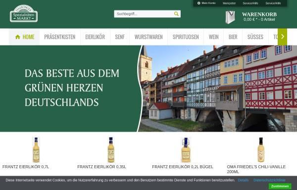 Vorschau von www.thueringer-spezialitaeten.de, Thüringer Spezialitätenmarkt GmbH