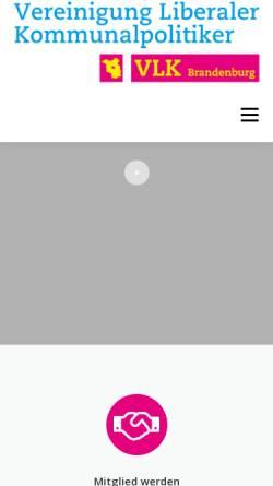 Vorschau der mobilen Webseite www.vlk-brandenburg.de, Vereinigung Liberaler Kommunalpolitiker Brandenburg