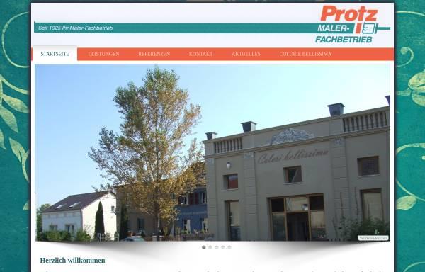 Vorschau von www.protz-werder.de, Malerfachbetrieb Protz GbR