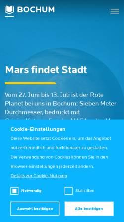 Vorschau der mobilen Webseite www.bochum-tourismus.de, Bochum Marketing GmbH