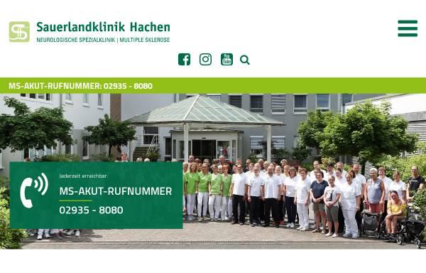 Vorschau von www.sauerlandklinik-hachen.de, Sauerlandklinik Hachen