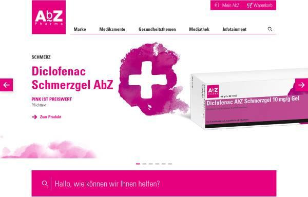 Vorschau von www.abz.de, AbZ-Pharma GmbH