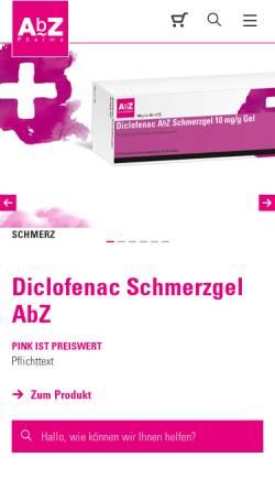 Vorschau der mobilen Webseite www.abz.de, AbZ-Pharma GmbH