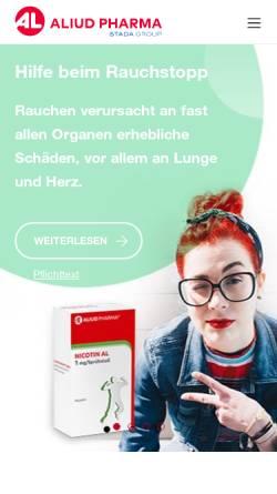 Vorschau der mobilen Webseite aliud.de, Aliud Pharma GmbH & Co. KG