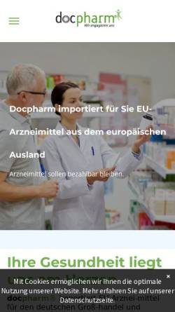 Vorschau der mobilen Webseite www.docpharm.de, Docpharm Arzneimittelvertrieb GmbH & Co. KGaA