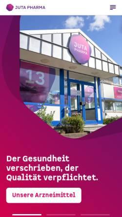 Vorschau der mobilen Webseite www.jutapharma.de, Juta Pharma GmbH