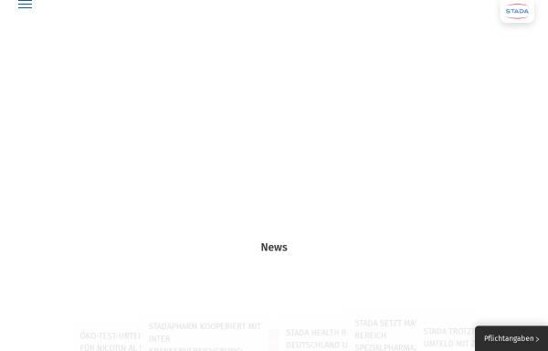 Vorschau von www.stada.de, Stada Arzneimittel AG
