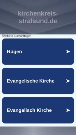 Vorschau der mobilen Webseite www.kirchenkreis-stralsund.de, Kirchenkreis Stralsund