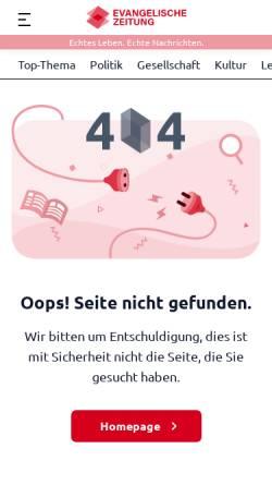 Vorschau der mobilen Webseite www.kirchenzeitung-mv.de, Kirchenzeitung-MV online