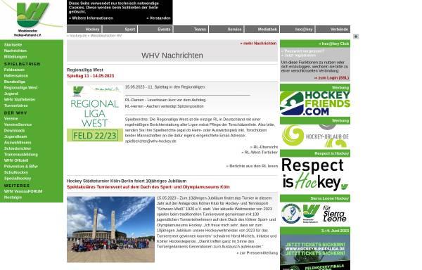 Vorschau von www.whv-hockey.de, Westdeutscher Hockey-Verband e. V.