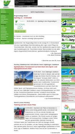 Vorschau der mobilen Webseite www.whv-hockey.de, Westdeutscher Hockey-Verband e. V.