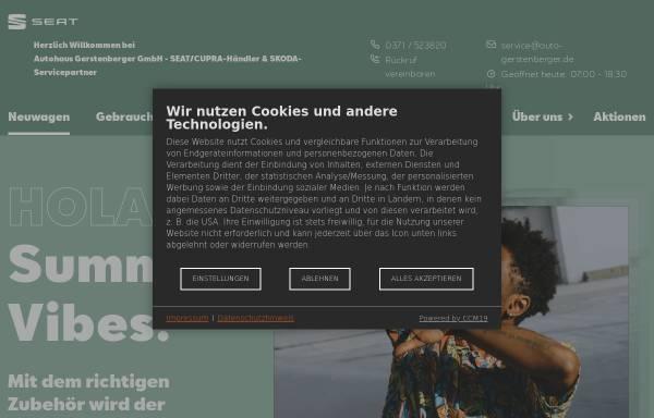 Vorschau von gerstenberger.seat.de, Seat Autohaus Gerstenberger