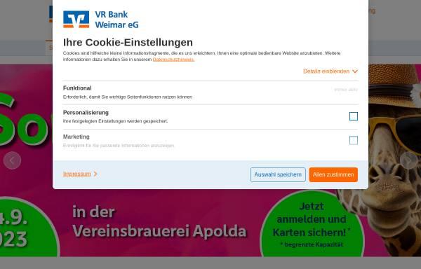 Vorschau von www.vrbank-weimar.de, VR Bank Weimar eG