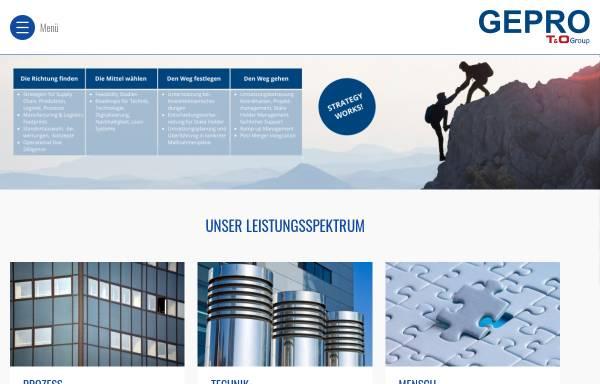Vorschau von www.gepro.com, Gepro mbH