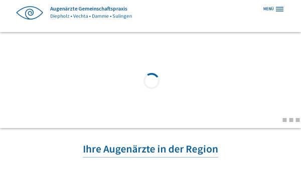 Vorschau von www.augen-diepholz.de, Augenärzte Gemeinschaftspraxis Diepholz Vechta
