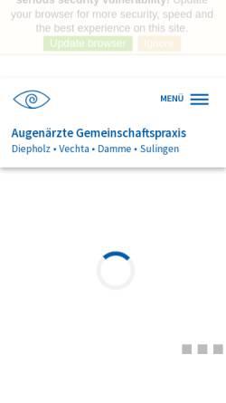 Vorschau der mobilen Webseite www.augen-diepholz.de, Augenärzte Gemeinschaftspraxis Diepholz Vechta