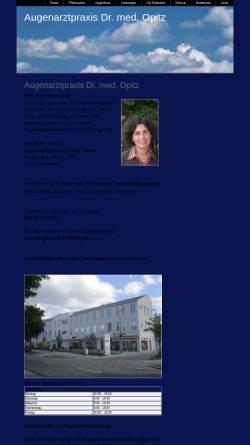 Vorschau der mobilen Webseite www.augenarzt-trudering.de, Opitz, Dr. med. B.