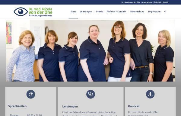 Vorschau von augenarzt-muelheim.de, von der Ohe, Dr. med. Nicola