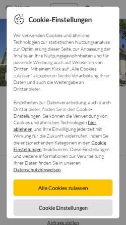 Vorschau der mobilen Webseite www.ferien-nl.de, Ferienhaus Strandperle