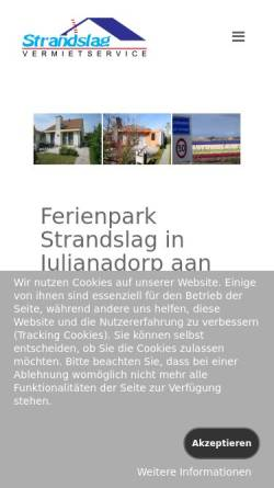 Vorschau der mobilen Webseite www.strandslag.de, Ferienpark Strandslag