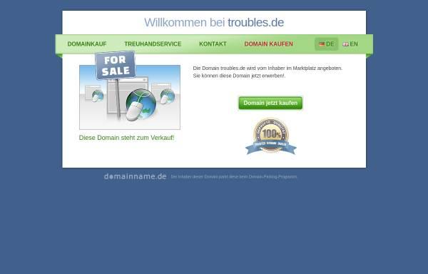 Vorschau von www.troubles.de, The Bad Luck & Trouble Blues Band