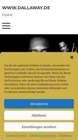 Vorschau der mobilen Webseite www.dallaway.de, Dallaway, K. J. und friends