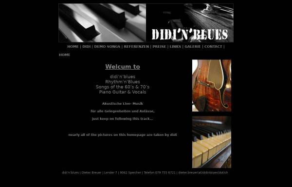 Vorschau von www.didinblues.ch, Didi'n'Blues