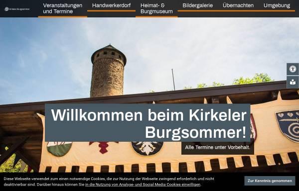 Vorschau von www.burgsommer.de, Kirkeler Burgsommer