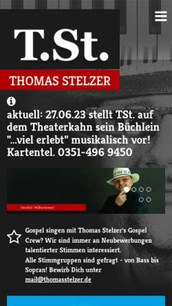 Vorschau der mobilen Webseite www.thomasstelzer.de, Stelzer, Thomas