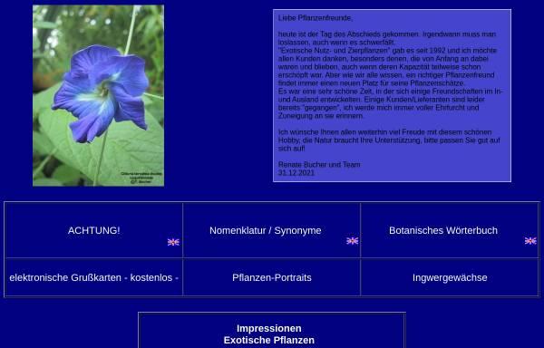 Vorschau von www.exot-nutz-zier.de, Exotische Nutz- und Zierpflanzen Versand Renate Bucher