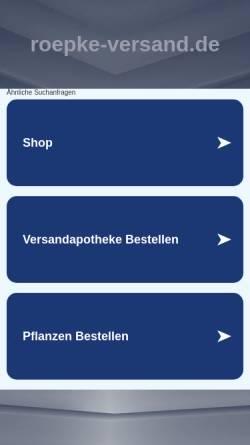 Vorschau der mobilen Webseite www.roepke-versand.de, Pflanzen Versand Hans-Günter Röpke