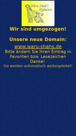 Vorschau der mobilen Webseite www.afghanen-online.de, Grünbergers Afghanische Windhunde