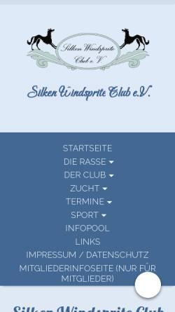 Vorschau der mobilen Webseite www.silkenwindsprite.de, Silken Windsprite