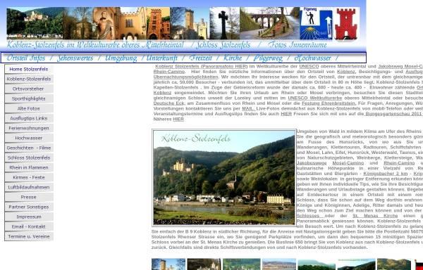 Vorschau von www.koblenz-stolzenfels.de, Koblenz-Stolzenfels