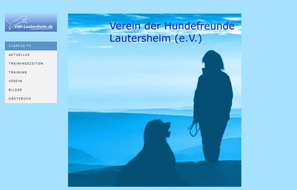 Vorschau von www.vdh-lautersheim.de, Verein der Hundefreunde Lautersheim e.V.