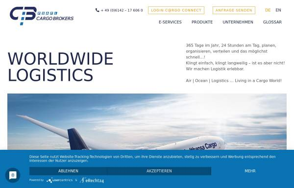 Vorschau von www.cargo-brokers.com, Cargo-Brokers.com - Carsten Scholles