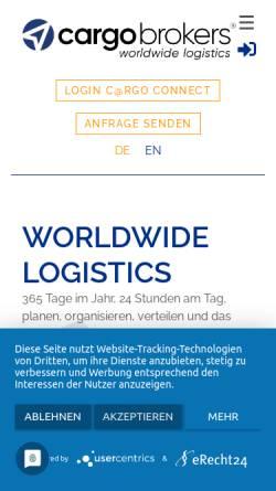 Vorschau der mobilen Webseite www.cargo-brokers.com, Cargo-Brokers.com - Carsten Scholles