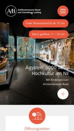 Vorschau der mobilen Webseite www.antikenmuseumbasel.ch, Basel, Antikenmuseum