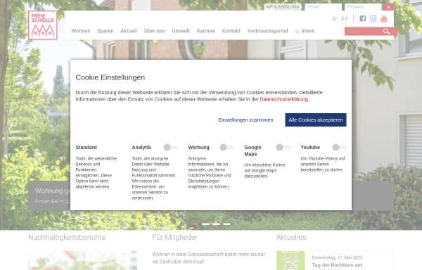 Vorschau von www.freie-scholle.de, Baugenossenschaft Freie Scholle eG