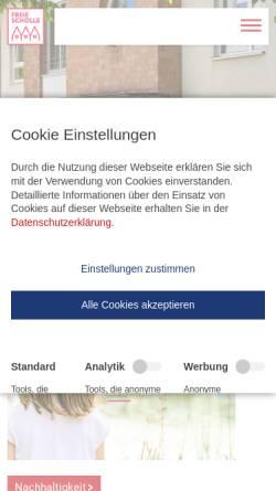 Vorschau der mobilen Webseite www.freie-scholle.de, Baugenossenschaft Freie Scholle eG