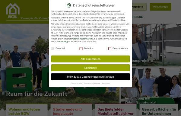 Vorschau von bgw-bielefeld.de, BGW Bielefelder Gesellschaft für Wohnen und Immobiliendienstleistungen mbH