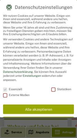 Vorschau der mobilen Webseite bgw-bielefeld.de, BGW Bielefelder Gesellschaft für Wohnen und Immobiliendienstleistungen mbH