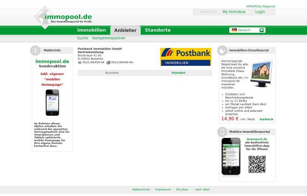 Vorschau von www.immopool.de, BHW Immobilien GmbH