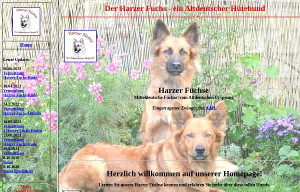 Vorschau von www.harzerfuchs.com, Harzer Fuchs vom Altdeutschen Ursprung