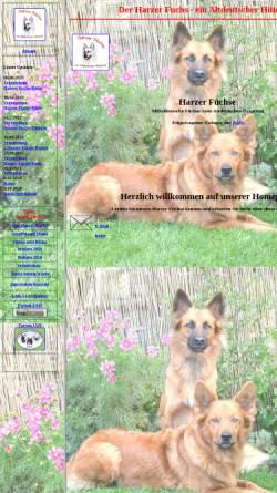 Vorschau der mobilen Webseite www.harzerfuchs.com, Harzer Fuchs vom Altdeutschen Ursprung